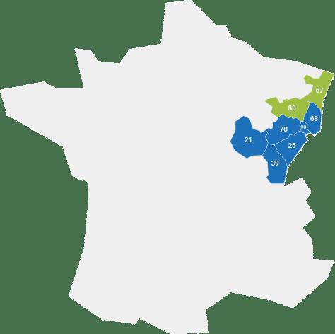 Matériel dentaire Franche-Comté, Alsace et Bourgogne